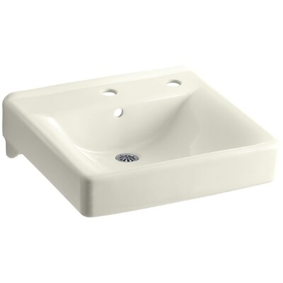 Soho Ceramic 20 Wall Mount Bathroom Sink with Overflow Finish: Biscuit