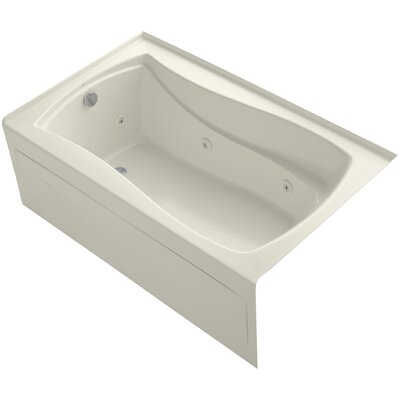 Mariposa Alcove 60 x 36 Whirpool Bathtub Finish: Biscuit