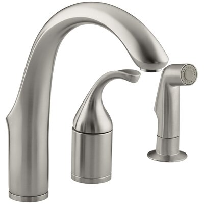 Fort� Three-Hole Remote Valve Kitchen Sink Faucet with Sidespray Finish: Vibrant Stainless