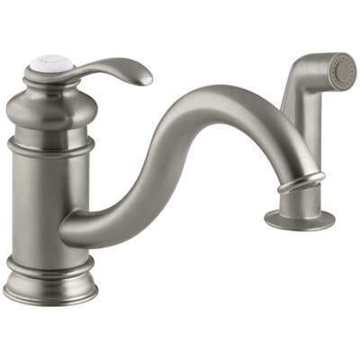 Fairfax Single Hole Kitchen Sink Faucet with 9 Spout Finish: Vibrant Brushed Nickel