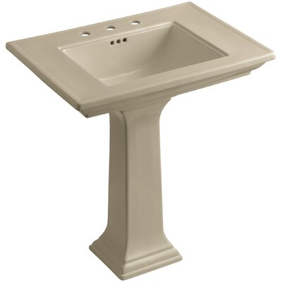 Memoirs� Ceramic 30 Pedestal Bathroom Sink with Overflow Finish: Mexican Sand, Faucet Hole Style: Single