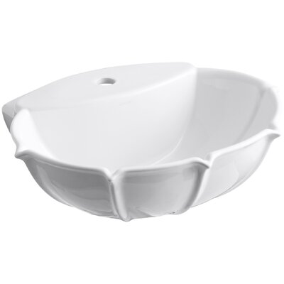 Langlade Ceramic 22 Pedestal Bathroom Sink Finish: White, Faucet Hole Style: Single
