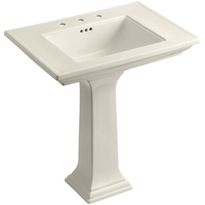 Memoirs� Ceramic 30 Pedestal Bathroom Sink with Overflow Finish: Almond, Faucet Hole Style: Single