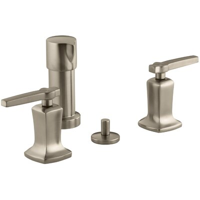 Margaux Vertical Spray Bidet Faucet with Lever Handles Finish: Vibrant Brushed Bronze
