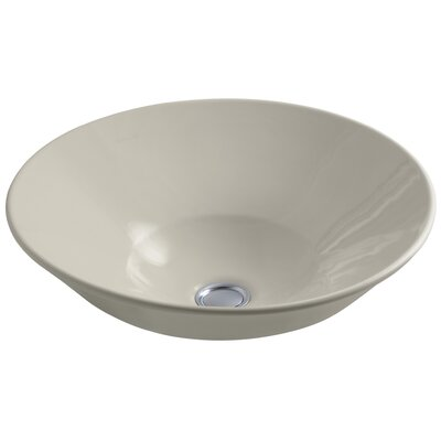 Conical Bell Above-Counter Circular Vessel Bathroom Sink Finish: Sandbar
