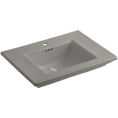Memoirs� Ceramic Rectangular Undermount Bathroom Sink with Overflow Finish: Cashmere, Faucet Hole Style: 8 Widespread
