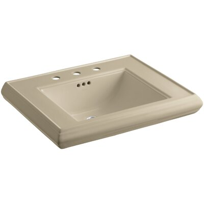 Memoirs� Ceramic 27 Pedestal Bathroom Sink with Overflow Finish: Mexican Sand, Faucet Hole Style: Single