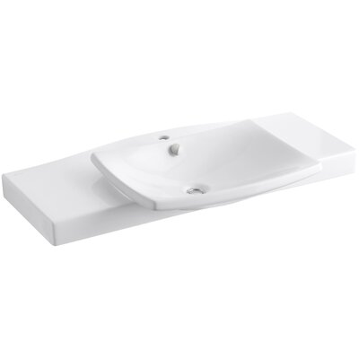 Escale Pedestal 40 Single Bathroom Vanity Top Top Finish: White