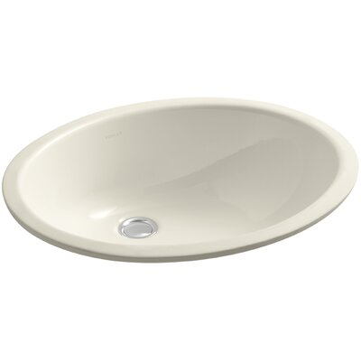Caxton Oval Undermount Bathroom Sink with Overflow Finish: Almond