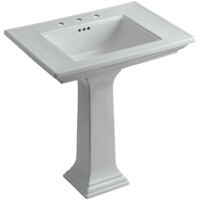 Memoirs� Ceramic 30 Pedestal Bathroom Sink with Overflow Finish: Ice Grey, Faucet Hole Style: 8 Widespread