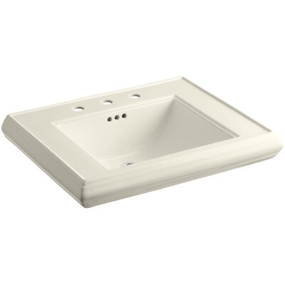 Memoirs 27 Wall Mount Bathroom Sink Finish: Almond, Faucet Hole Style: 8 Widespread