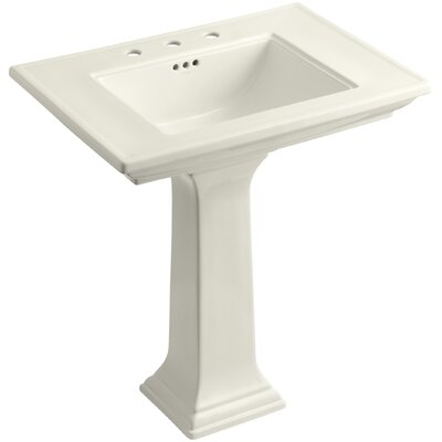 Memoirs� Ceramic 30 Pedestal Bathroom Sink with Overflow Finish: Biscuit, Faucet Hole Style: Single