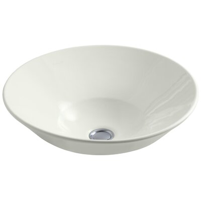 Conical Bell Above-Counter Circular Vessel Bathroom Sink Finish: Dune