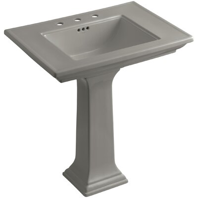 Memoirs Stately 30 Pedestal Bathroom Sink Finish: Cashmere, Faucet Hole Style: 8 Widespread