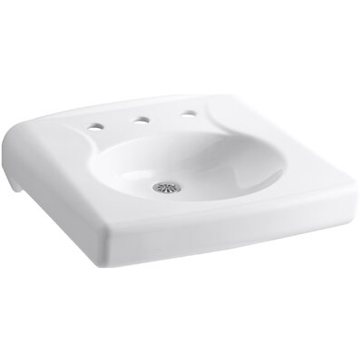 Brenham Ceramic 22 Wall Mount Bathroom Sink Finish: White