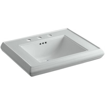 Memoirs� Ceramic 27 Pedestal Bathroom Sink with Overflow Finish: Ice Grey, Faucet Hole Style: 8 Widespread