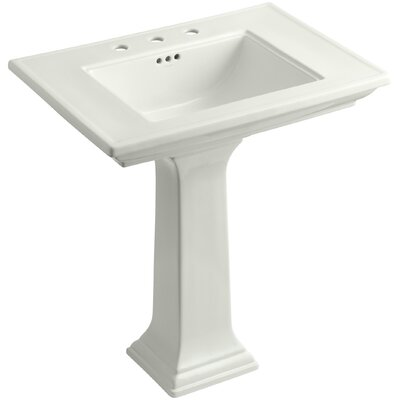 Memoirs� Ceramic 30 Pedestal Bathroom Sink with Overflow Finish: Dune, Faucet Hole Style: 8 Widespread