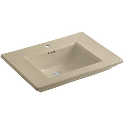Memoirs� Ceramic Rectangular Undermount Bathroom Sink with Overflow Finish: Mexican Sand, Faucet Hole Style: 8 Widespread