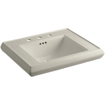 Memoirs� Ceramic 27 Pedestal Bathroom Sink with Overflow Finish: Sandbar, Faucet Hole Style: 8 Widespread