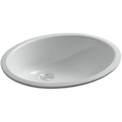 Caxton Ceramic Oval Undermount Bathroom Sink with Overflow Finish: Ice Grey, Glazed Underside: No