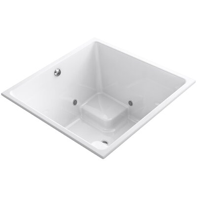 Underscore Vibracoustic 48 x 48 Whirpool Bathtub Finish: White