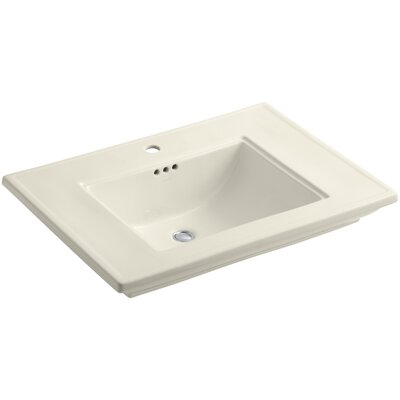 Memoirs� Ceramic Rectangular Undermount Bathroom Sink with Overflow Finish: Almond, Faucet Hole Style: Single