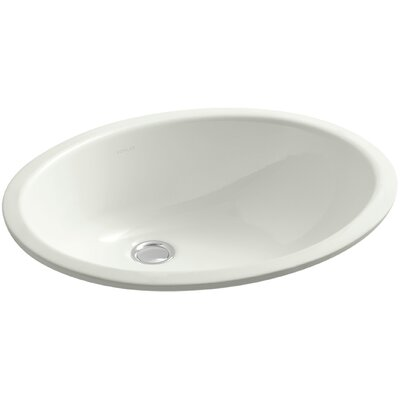 Caxton Oval Undermount Bathroom Sink with Overflow Finish: Dune, Glazed Underside: No