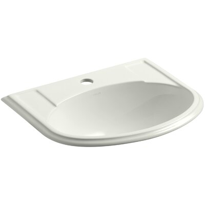 Devonshire Ceramic U-Shaped Drop-In Bathroom Sink with Overflow Finish: Dune