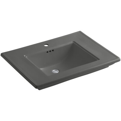 Memoirs Rectangular Undermount Bathroom Sink Finish: Thunder Grey, Faucet Hole Style: Single
