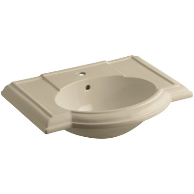 Devonshire� Ceramic 28 Pedestal Bathroom Sink with Overflow Finish: Mexican Sand
