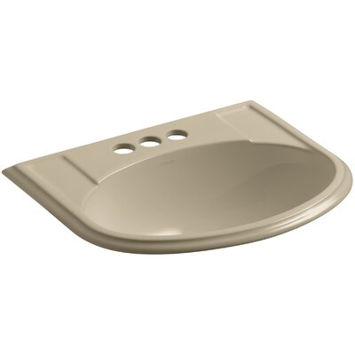 Devonshire� Ceramic U-Shaped Drop-In Bathroom Sink with Overflow Finish: Mexican Sand