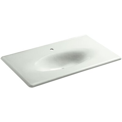 Iron Impressions 38 Single Bathroom Vanity Top Top Finish: Sea Salt, Faucet Hole Style: 8 Widespread