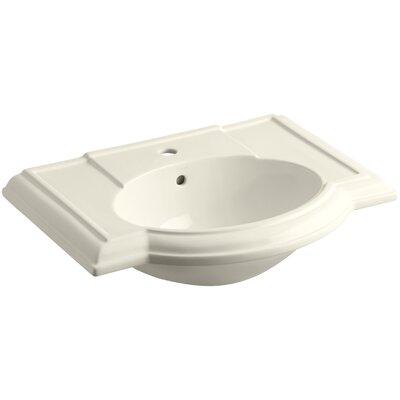 Devonshire� Ceramic 28 Pedestal Bathroom Sink with Overflow Finish: Almond