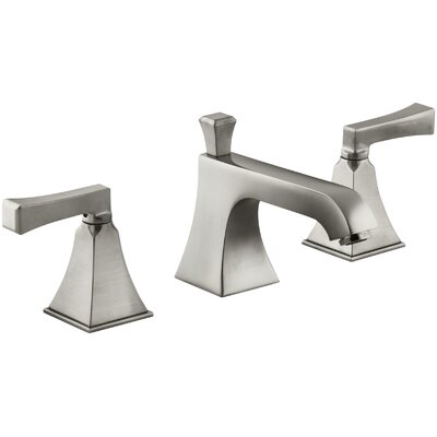Memoirs Souci Widespread Double Handle Bathroom Faucet with Drain Assembly Finish: Vibrant Brushed Nickel