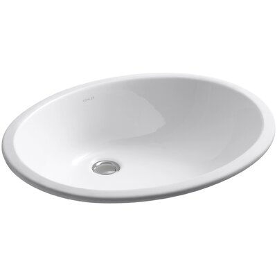 Caxton Ceramic Oval Undermount Bathroom Sink Sink Finish: White