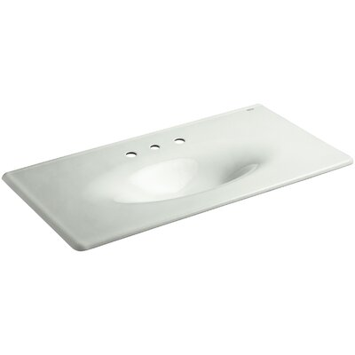 Iron Impressions 44 Single Bathroom Vanity Top Finish: Sea Salt, Faucet Hole Style: Single