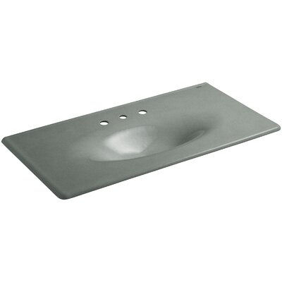 Iron Impressions 44 Single Bathroom Vanity Top Finish: Basalt, Faucet Hole Style: Single