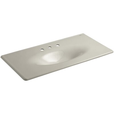 Iron Impressions 44 Single Bathroom Vanity Top Finish: Sandbar, Faucet Hole Style: Single