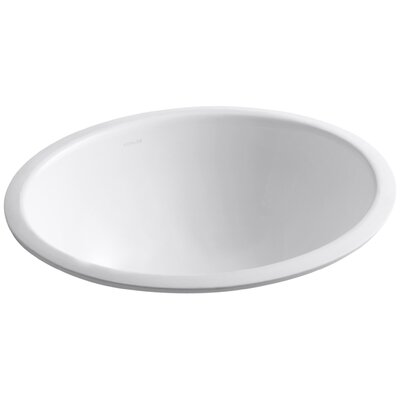 Caxton Oval Undermount Bathroom Sink with Overflow Sink Finish: White