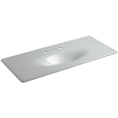 Iron Impressions 50 Single Bathroom Vanity Top Top Finish: Ice Grey, Faucet Hole Type: Single