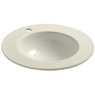 Camber Self Rimming Bathroom Sink Finish: Almond