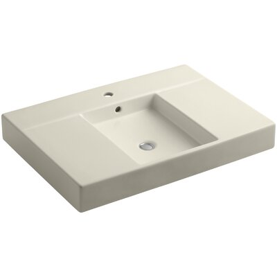 Traverse Single Faucet Hole 31 Single Bathroom Vanity Top Finish: Almond