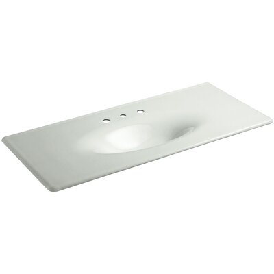 Iron Impressions 50 Single Bathroom Vanity Top Top Finish: Sea Salt, Faucet Hole Type: Widespread