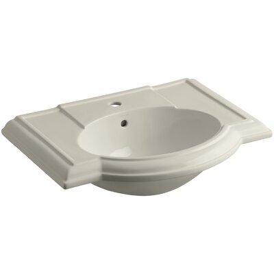 Devonshire� Ceramic 28 Pedestal Bathroom Sink with Overflow Finish: Sandbar