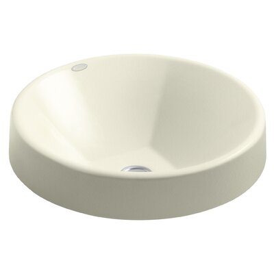 Inscribe Wading Pool Metal Circular Vessel Bathroom Sink Sink Finish: Cane Sugar