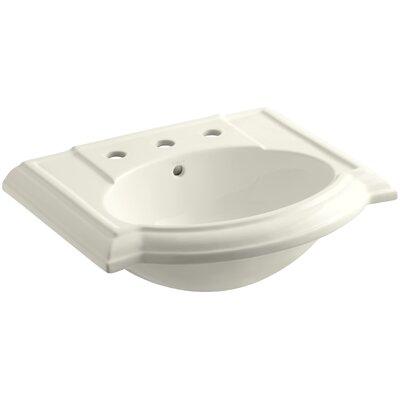 Devonshire 23 Pedestal Bathroom Sink Finish: Biscuit