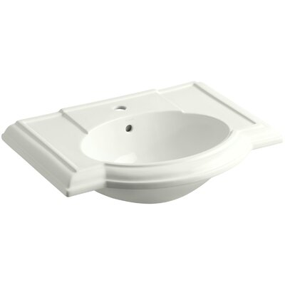 Devonshire� Ceramic 28 Pedestal Bathroom Sink with Overflow Finish: Dune