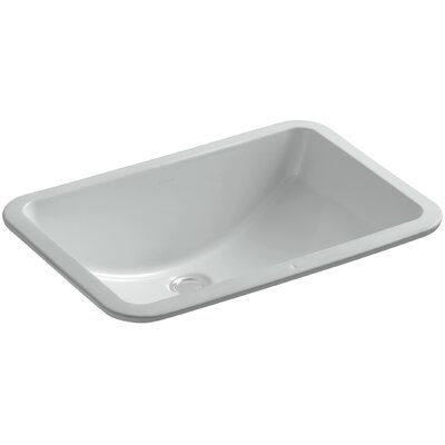 Ladena Ceramic Rectangular Undermount Bathroom Sink Finish: Ice Grey