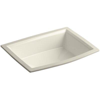 Archer Ceramic Rectangular Undermount Bathroom Sink with Overflow Sink Finish: Almond