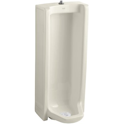 Branham Washout Floor-Mount 1 GPF Urinal with Top Spud Finish: Almond